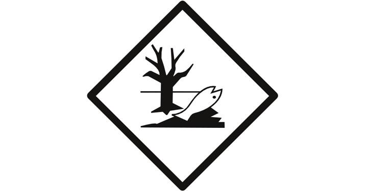 Gefahrgutplakette Umweldgefährdend.