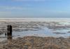 Küste bei Niedrigwasser.