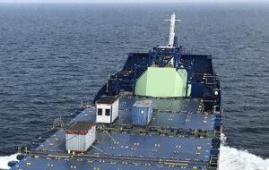 Der LNG-Vorratstank wurde auf dem Vorschiff installiert