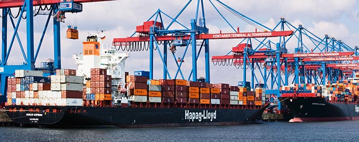 Hapag Lloyd Containerschiff.