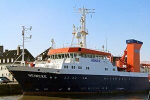 FS Heincke im Bremerhavender Fischereihafen.
