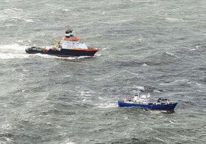 Erfolgreicher Einsatz der NORDIC bei schwerem Wetter (Windstärke 7) vor Borkum.