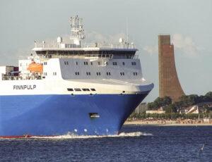 Russland-Fähre einlaufend Kiel.