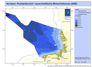 Die deutsche Ausschließliche Wirtschaftszone (AWZ).