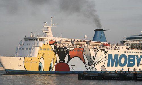 MOBY VINCENT ex STENA NORMANDICA (Baujahr 1974) in Livorno.