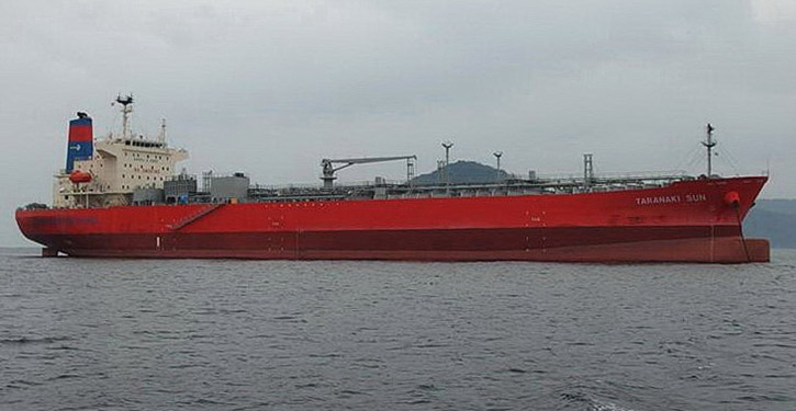 TARANAKI SUN: Waterfront shippings first tanker running on methanol fuel. © MA D&T