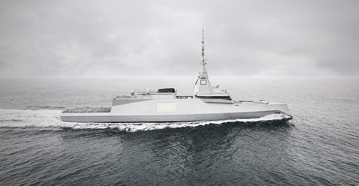 FTI-Schiff der Naval Group für die französische Marine.