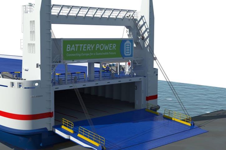 Die STENA JUTLANDICA wird zukünftig mit elektrischem Strom aus Akkumulatoren betrieben.