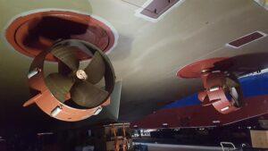 Die Veth Ruderpropeller Typ VL-550i. © Veth