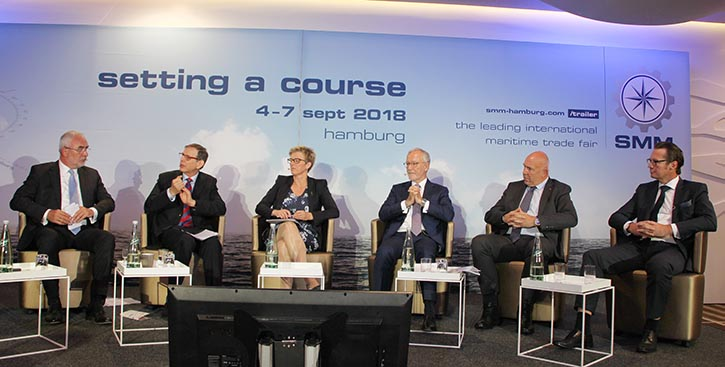 Von links: B. AufderHeide, Dr.Martin Stopford, Kjersti Kleven, Anthony J.Firmin, Wayne Jones, Knut Ørbeck-Nilssen.