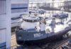 VOLT PROCESSOR vor dem Stapellauf bei Damen Shipyard