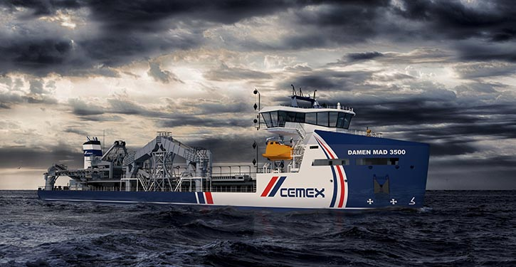 The new Damen dredger featuring Wärtsilä propulsion equipment.