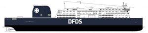 DFDS RoPax-Fähre.