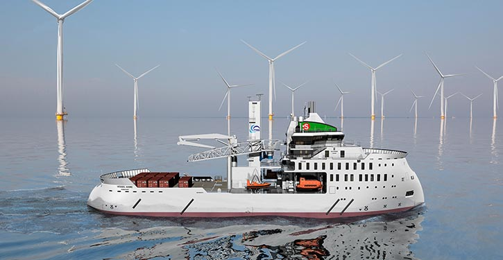 The new ULSTEIN SX 195 for B. Schulte shipping company