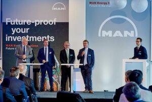 Wayne Jones MAN ES, Pontus Berg BW LPG Ltd, Rene Sejer Laursen MAN ES, Lars Juliussen MAN ES. ©MAN ES
