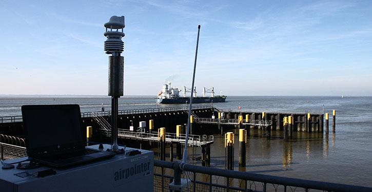 BSH-Abgasmessstation in Bremerhaven (©Pospiech)