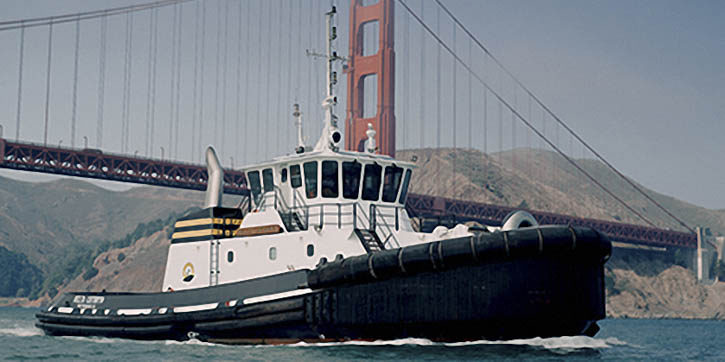 AIP tug boat installed with the Rolls-Royce hybrid propulsion system.