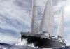 Der Frachtensegler soll Renault-Fahrzeuge über den Atlantik transportieren. ©Neoline