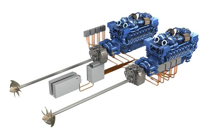 The new MTU hybrid propulsion system. ©MTU-RollsRoyce