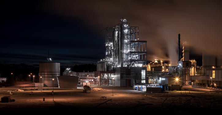 Forchem Werk in Rauma, Finnland. ©MAN Cryo
