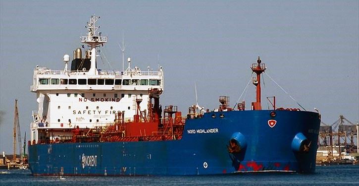 Der 37,000 dwt Tanker NORD HIGHLANDER fährt erfolgreich mit Biofuel