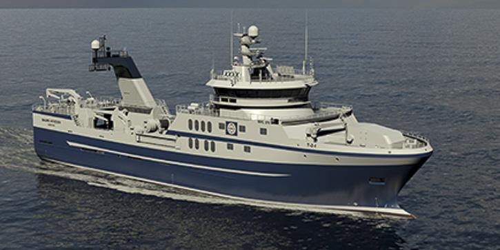Ansicht des neuen Trawlers