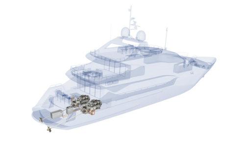 Sunseeker-Yacht mit integriertem hybriden MTU-Antriebssystem