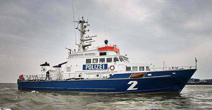 Polizeiboot. © Pospiech