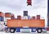 Automatisch gesteuerte E-Containertransporter (AGV) am CTA Altenwerder (©HHLA)