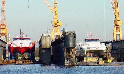 Ausgelastete Docks bei der EWD