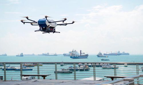 First goods supply by Drones for vessels at anchorage