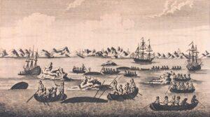 Historische Walfangszene