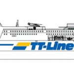 """Darstellung des neuen """"Green Ship"""" RoPax-Schiffes"""