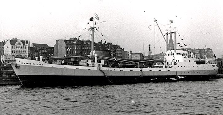 "Frachtschiff MS ""Irmgard Pleuger""."