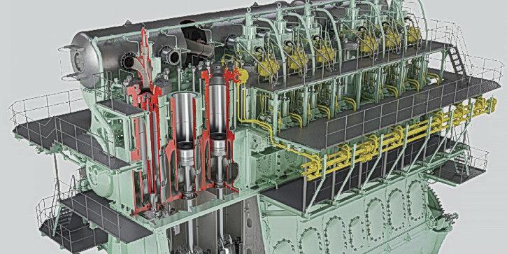 The ME-GI engine. © MAN ES