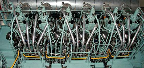 Zweitakt-Wechselmotor (dual fuel) der Baureihe ME-LGI