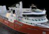 Grafische Darstellung des neuen Schiffs (Bild © Multi Maritime)