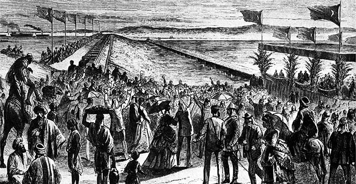 Eröffnungsfeier am Suezkanal