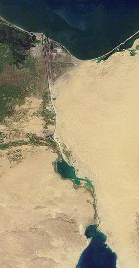 Der Suezkanal aus dem All gesehen
