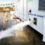 300 m3/h gereinigtes Ballastwasser werden in den Hafen gepumpt
