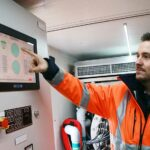 Benjamin Roeder, Jongen GmbH, erklärt die Funktion der Ballastwasserbehandlungsanlage
