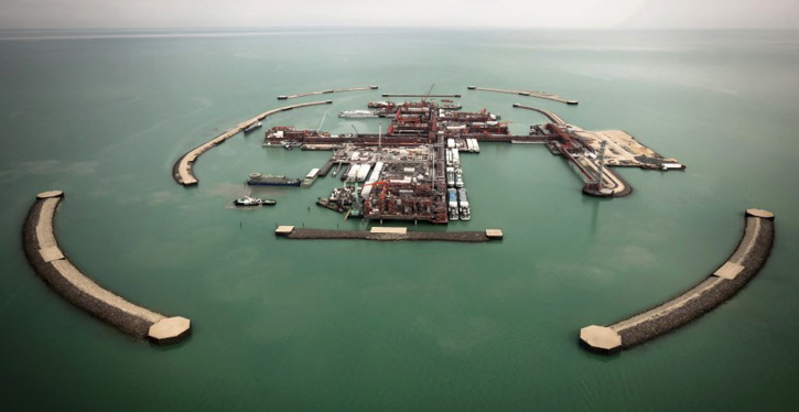 Ölfelder im Kaspischen Meer