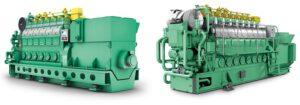 2 x 1.710 kW leisten jeweils die beiden MAN DF-Motoren.