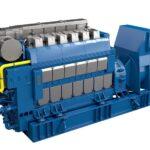 Bergen-Gasmotor des Typs B36:45L6AG von Rolls-Royce