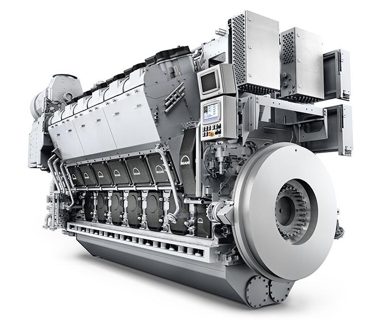 Der MAN 12V32/44CR-Motor
