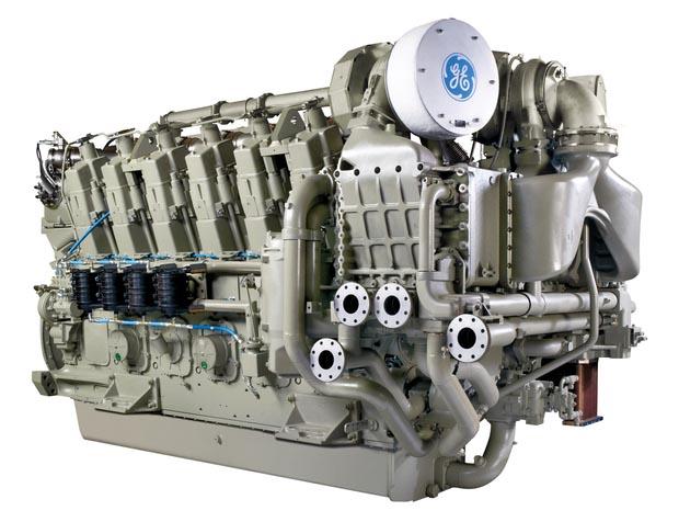 GE 250-Motor, in EPA TIER4 / IMO III Ausführung