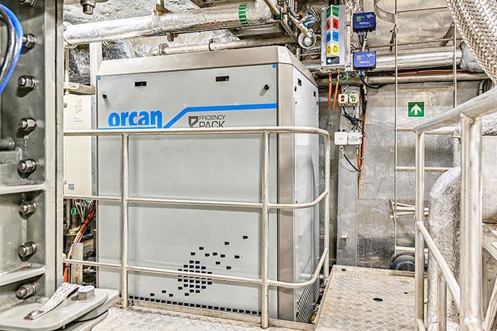 Wärmerückgewinnungsanlage von Orcan Energy.