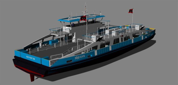 The new ferries for GVB will reduce emissions in the North Sea Canal.