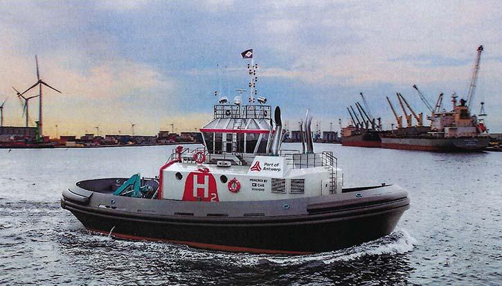 So könnte der neue H2-Hafenschlepper von Port of Antwerp aussehen